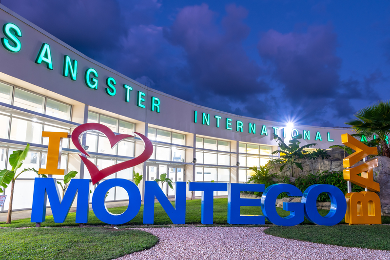 Sangster International Airport (MBJ) serves Montego Bay in Jamaica.